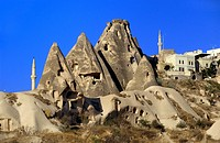 Cappadocia; Homes carved from Tufa Formations; Turkey