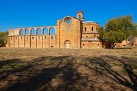 Ruins of Santa Maria de Moreruela Cistercian monastery 12th century, Silver Route, Granja de Moreruela, Via de la Plata, Zamora province, Castilla-Leo...
