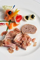 Italy, Piedmont, Langhe, foie gras with truffle