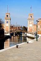 Arsenal of Venice, Sestiere, Castello, Venice, Veneto, Italy, Western Europe