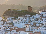 Almogia, Spain. Typical white village.