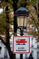 road sign fireman