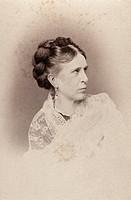 MARIE KREBS (1851-1900). German pianist. Carte-de-visite photograph by Hanns Hanfstaengl, c1890.