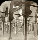 EGYPT: CAIRO, 1901. 'Interior of hall of instruction, University of Cairo, Egypt.' Stereograph, 1901.