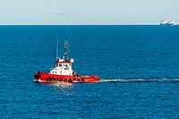 Tugboat at sea