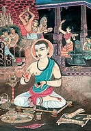 Shiva , sivalinga , basavanna , puja , man , serpent , beggar , artist S. Rajam , saint , sadhu , swami , sannyasin , monk , devotion , meditation , h...