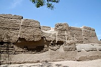 Inca Wall in the Archaeological site of Maranga 15th centuri AD.Lima,Peru
