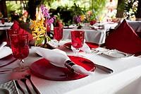 Set tables in restaurant