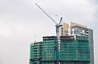 Construction site for a new office building, Kuala Lumpur, Malaysia, Southeast Asia, Asia