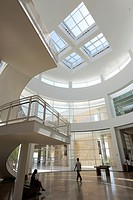 The interior view of the Rotunda of Getty Center. Los Angeles. California. USA