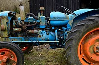 Antique Fordson Major tractor, Wales