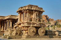 India , Karnataka State, Hampi City ,ruins of Vijayanagar City XV century , (W.H.), Vittala Temple