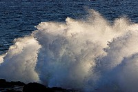 Spain, Breaking of waves at La Gomera