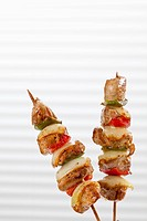 Shashlik skewers, close up