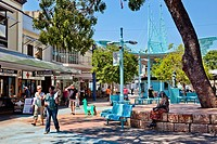Australia, Northern Territory, Darwin, view of Smith Street Mall in the Centre of Dawin