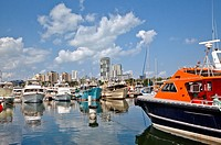 Australia, Northern Territory, Darwin, view of the city from Darwin Marina
