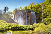 Croatia - Plitvice Lakes National Park, waterfall &quot;&quot;Galovacky buk&quot;&quot; at the upper lakes, central Croatia, UNESCO
