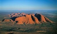 Australia, Northern Territory, Uluru-KataTjuta National Park, aerial view of the Olgas (Kata Tjuta)