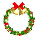 Merry Christmas Wreath With Bells