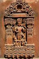 India, Rajasthan, Osian, Harihara temple (8th C), God Vishnu.