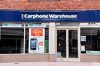 The Carphone Warehouse Shop store in Salisbury , Wiltshire , England , Britain , Uk
