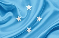 Micronesia waving flag