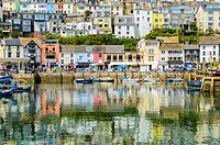 The Fishing town of Brixham, Devon, England.
