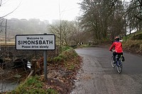 Cycling In Exmoor On A Rainy Day, Simonsbath, United Kingdom