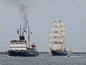 Stettin and Mercedes returning from Squadron Cruise, Mecklenburg West Pomerania, Germany