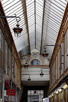 Shopping arcade of 1846 with a glass roof, Passage Jouffroy