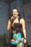 Pop star Petra Frey at the Danube Island Festival 2012