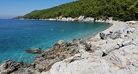 Greece, one of the main locations for the film 'Mamma Mia'; Skopelos Island, Kastani Bay