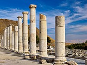 Palladius street, ancient city of Bet She'an also Scythopolis in the Jordan Valley, Israel