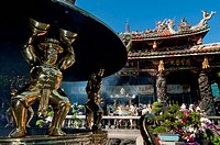 Longshan Temple At Taipei, Taiwan, Asia