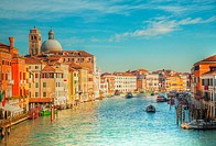 View to Grande Canal in Venice, Italy