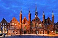Hospital of the Holy Spirit Luebeck, Hanseatic City of Luebeck, Schleswig-Holstein, Germany, UNESCO World Cultural Heritage