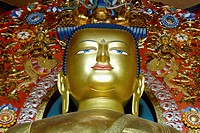 Shakyamuni Buddha At The Norbulingka Institute, Centre For Preserving Tibetan Cultural Heritage, Himachal Pradesh, India
