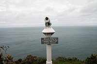 Telescope On The South West Coast Path Near Lynmouth, Exmoor, United Kingdom