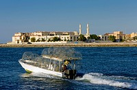 United Arab Emirates, Fishing Boat Leaving Harbour; Ras Al Khaimah