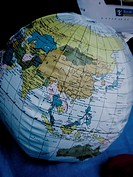 Plastic earth globe