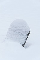 Snow covered Tombstone