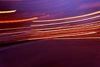 Light trails, light painting, colors, harmony, dynamics