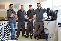 Team. Mechanical workshop of embedded sample preparation. Characterization, test and analyze of materials and components. Technological Services to In...