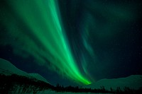 Aurora Borealis, Europe, sky, high valley, night, Northern lights, Norway, polar light, Scandinavia, Tromsö, winter, sky appearance, natural wonder, s...