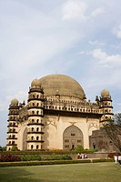 Gol Gumbaz , built in 1659 , Mausoleum of Muhammad Adil Shah ii 1627-57 , dome is second largest one in world which is unsupported by any pillars , Bi...