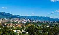 Panoramic of Medellin, Antioquia, Colombia
