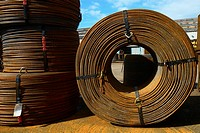 Coiled Steel Cable on Construction Site