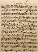 Handwritten score for the Mass in B minor, BWV 232, by Johann Sebastian Bach (1685-1750).  Leipzig, Bach-Archiv (Archive)