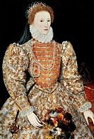 Portrait of Elizabeth I of England (Greenwich, 1533-London, 1603), Queen of England and Ireland