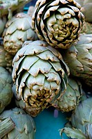 Artichokes for sale at a market
